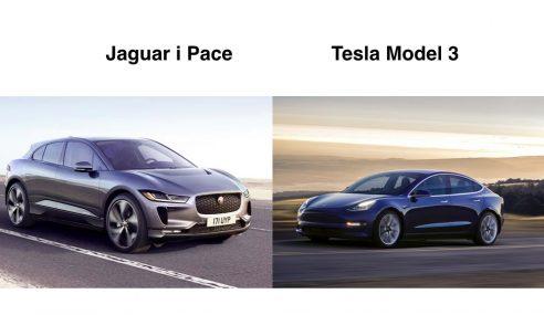 Comparatif Tesla Model 3 et Jaguar i-Pace