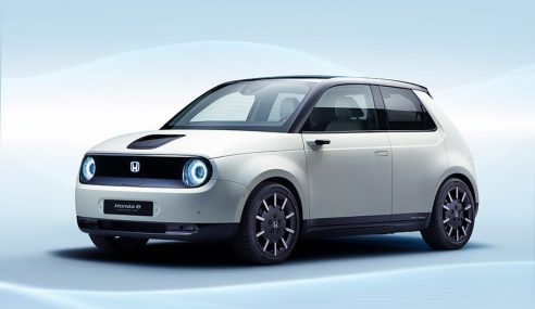 Honda e Prototype au Salon international de l'automobile de Genève 2019